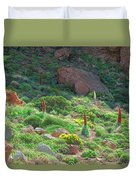 Field Of Echium Wildpretii In The Teide National Park Duvet Cover