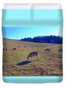 Field Of Ewes Duvet Cover