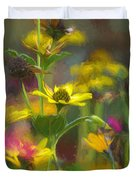 Field Of Flowers Paint Duvet Cover