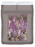 Field Of Multi-colored Flowers Duvet Cover