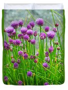 Field Of Onions  Duvet Cover