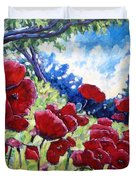 Field Of Poppies 02 Duvet Cover