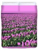 Field Of Purple Flowers Duvet Cover