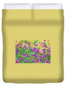Field Of Purple Flowers Duvet Cover