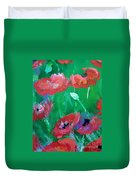 Field Of Red 2 Duvet Cover