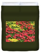 Field Of Red And Yellow Flowers Duvet Cover