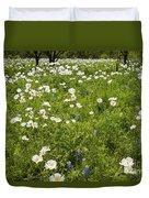 Field Of White Poppies Duvet Cover