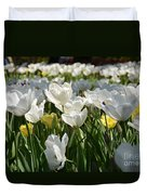 Field Of White Tulips Duvet Cover