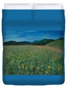 Field Of Yellow Flowers Duvet Cover