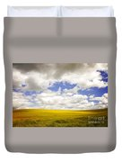 Field With Dramatic Sky. Duvet Cover