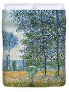 Fields In Spring, 1887 Duvet Cover