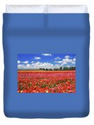 Fields Of Flowers At Nir Banim Duvet Cover