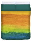 Fields Of Gold 1 - Abstract Summer Landscape Painting Duvet Cover