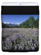 Fields Of Lupine And Owl Clover Duvet Cover