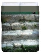 Fieldstone Stairs New England Duvet Cover
