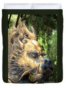 Fierce Foo Dog Face Duvet Cover