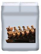 Fierce Guardians Of The Forbidden City Duvet Cover