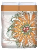 Fiery Chrysanthemum Duvet Cover