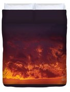 Fiery Clouds Duvet Cover