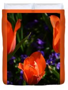 Fiery Colored Tulips Duvet Cover