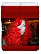 Fiery Femme Fatale  Duvet Cover