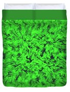 Fiery Green Duvet Cover