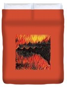 A Hot Valley Of Flames Duvet Cover