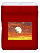 Fiery Moon Duvet Cover