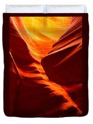 Fiery Sandstone Abstract Duvet Cover