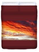 Fiery Sky Duvet Cover