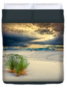Fiery Sunrise At White Sands Duvet Cover
