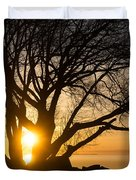 Fiery Sunrise - Like A Golden Portal To Another World Duvet Cover