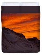 Fiery Sunset Over The Dunes Duvet Cover