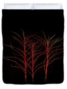Fiery Trees Duvet Cover