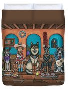 Fiesta Dogs Duvet Cover