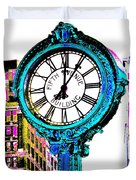 Fifth Avenue Building Clock New York  Duvet Cover