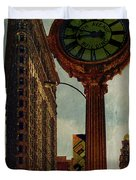 Fifth Avenue Clock And The Flatiron Building Duvet Cover