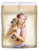 Fifties And Sixties Australian Surf Skate Culture Duvet Cover