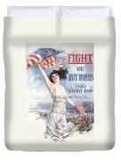 Fight Or Buy Bonds Duvet Cover