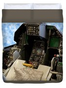 Fighter Jet Cockpit 01 Duvet Cover
