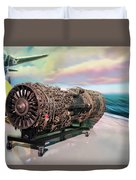 Fighter Jet Engine Duvet Cover