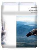 Robin Olds Fighter Pilot Duvet Cover
