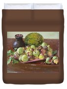 Figs And Cantaloupe Duvet Cover