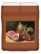 Figs And Grapes Duvet Cover