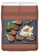 Figs Dessert With Mascarpone Duvet Cover
