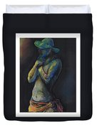 Figure Hat And Scarf Duvet Cover