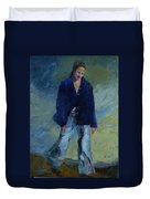 Figure In The Dark Jacket Duvet Cover