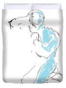 Figure/man Duvet Cover