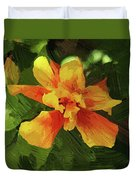 Fijian Hibiscus Abstract In Del Mar 1 Duvet Cover