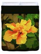 Fijian Hibiscus Abstract In Del Mar 2 Duvet Cover